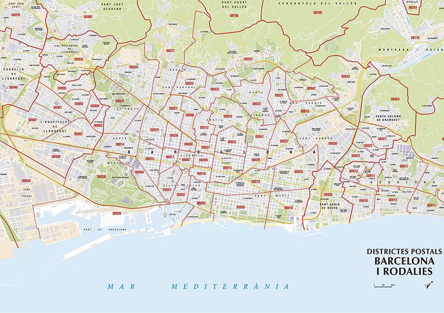 Mapa Codigos Postales Barcelona.Mapas De Codigos Postales Cartograma 2012