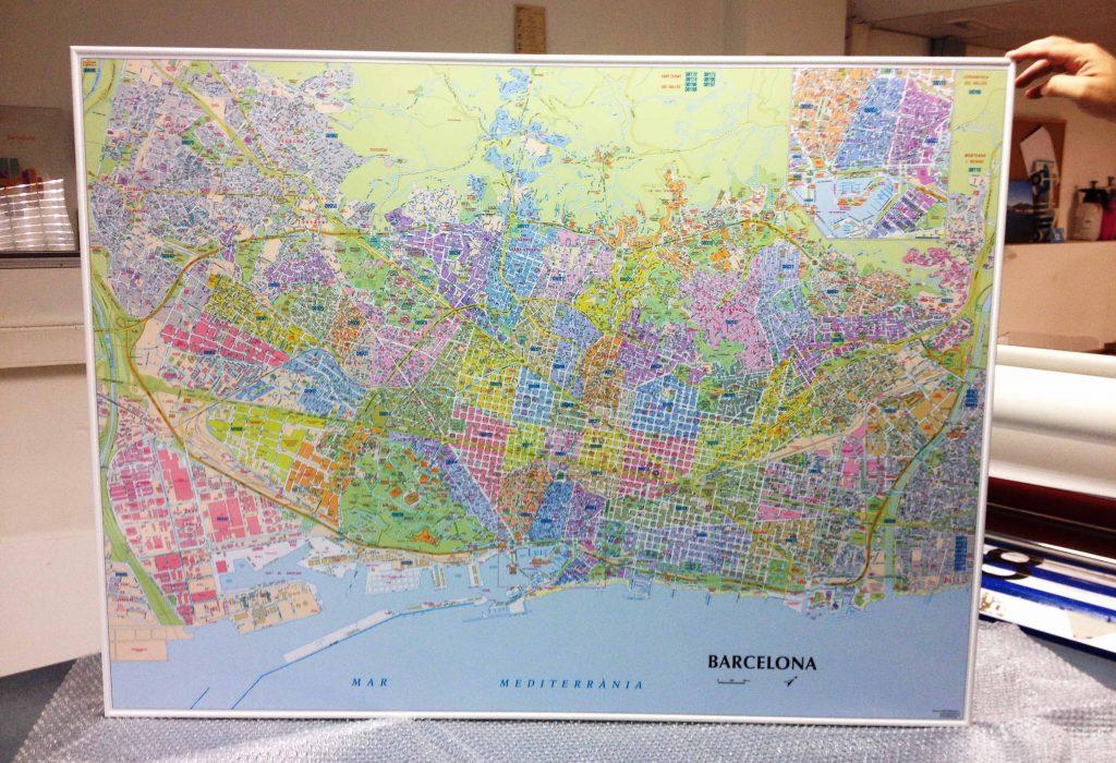Mapa Barcelona Codis Postals