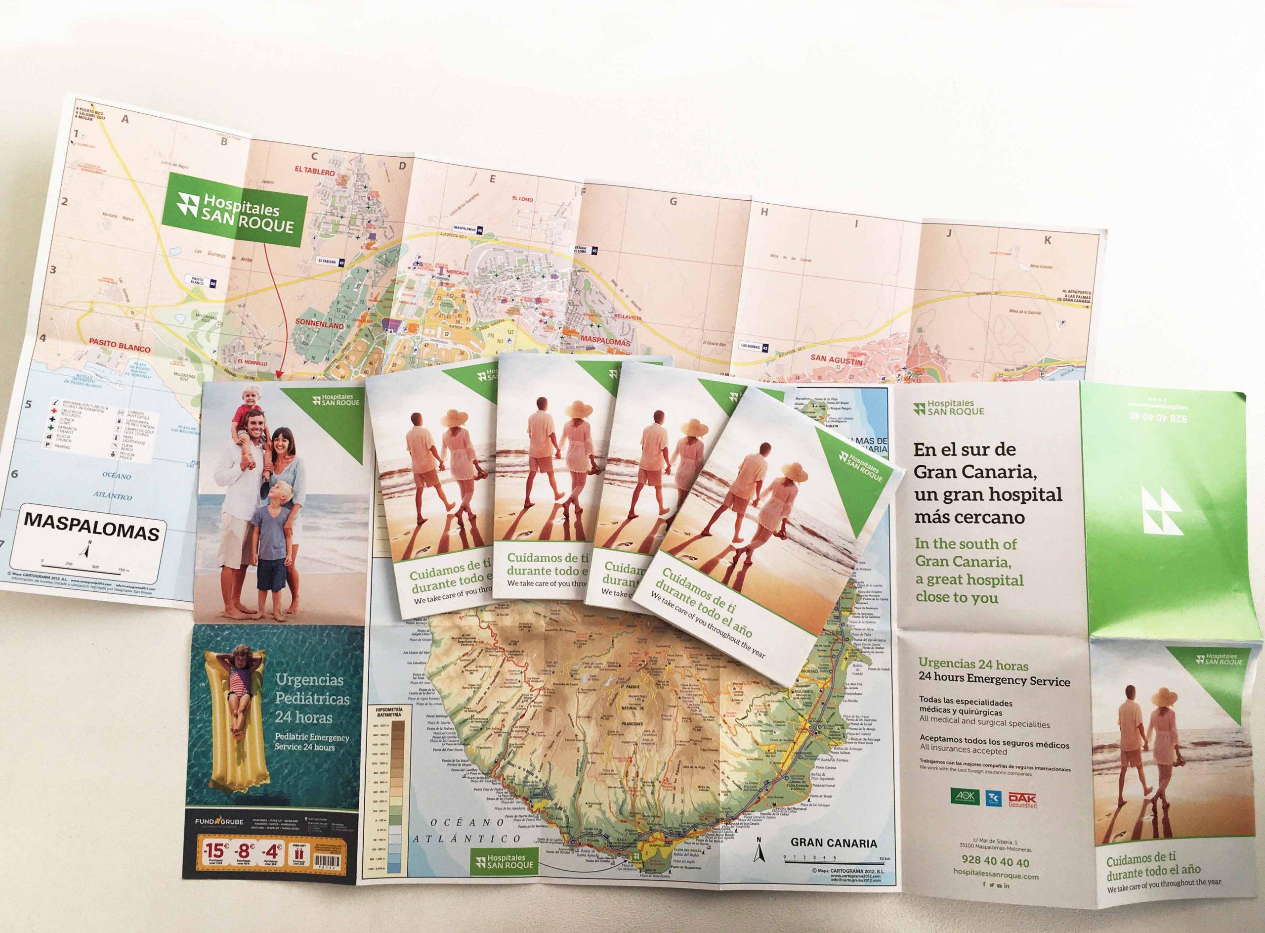 Mapas plegados para publicidad
