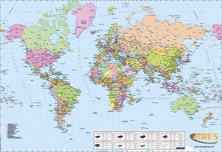 Mapas para regalos promocionales de empresa