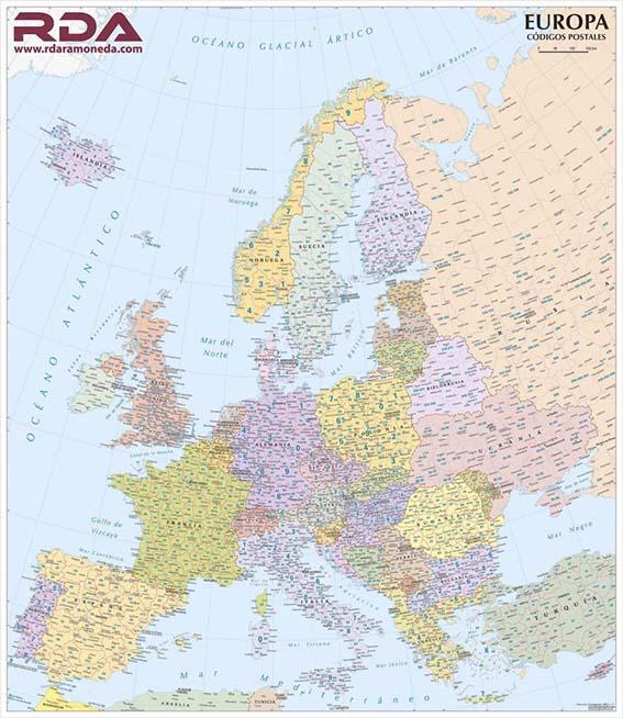 Mapas Europa Códigos Postales