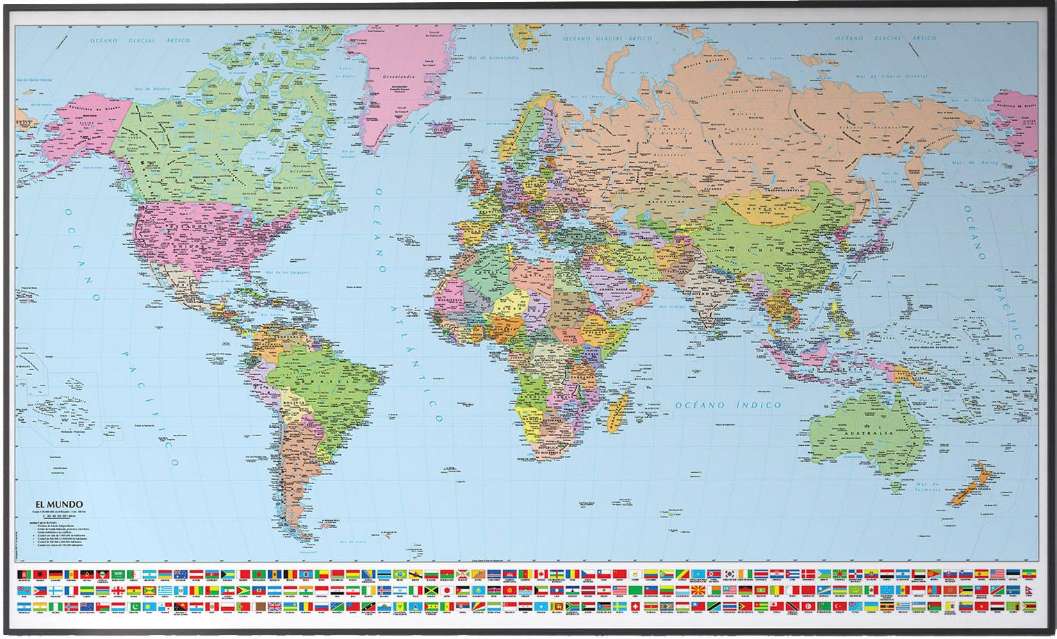 Mapas murales personalizados