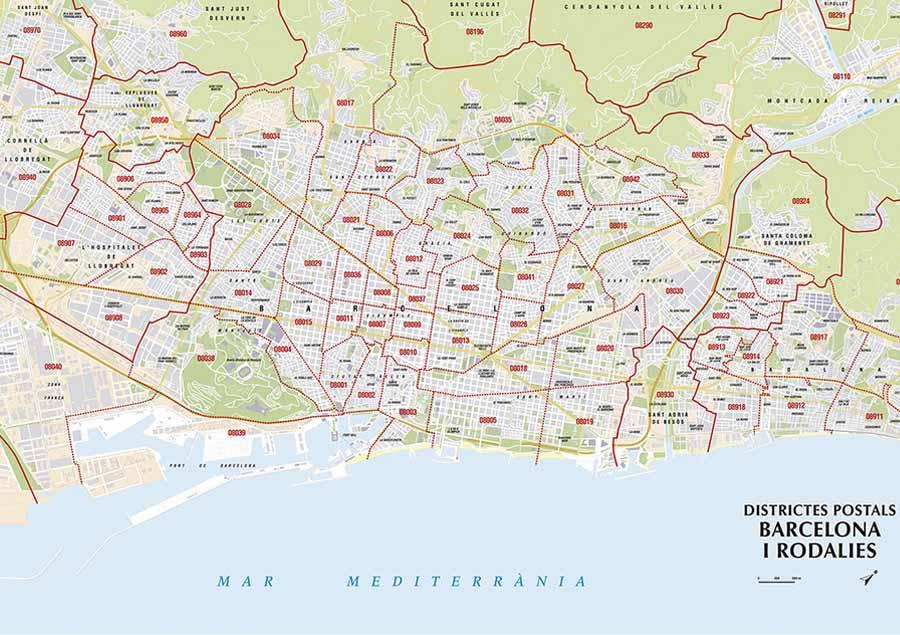 mapas de códigos postales