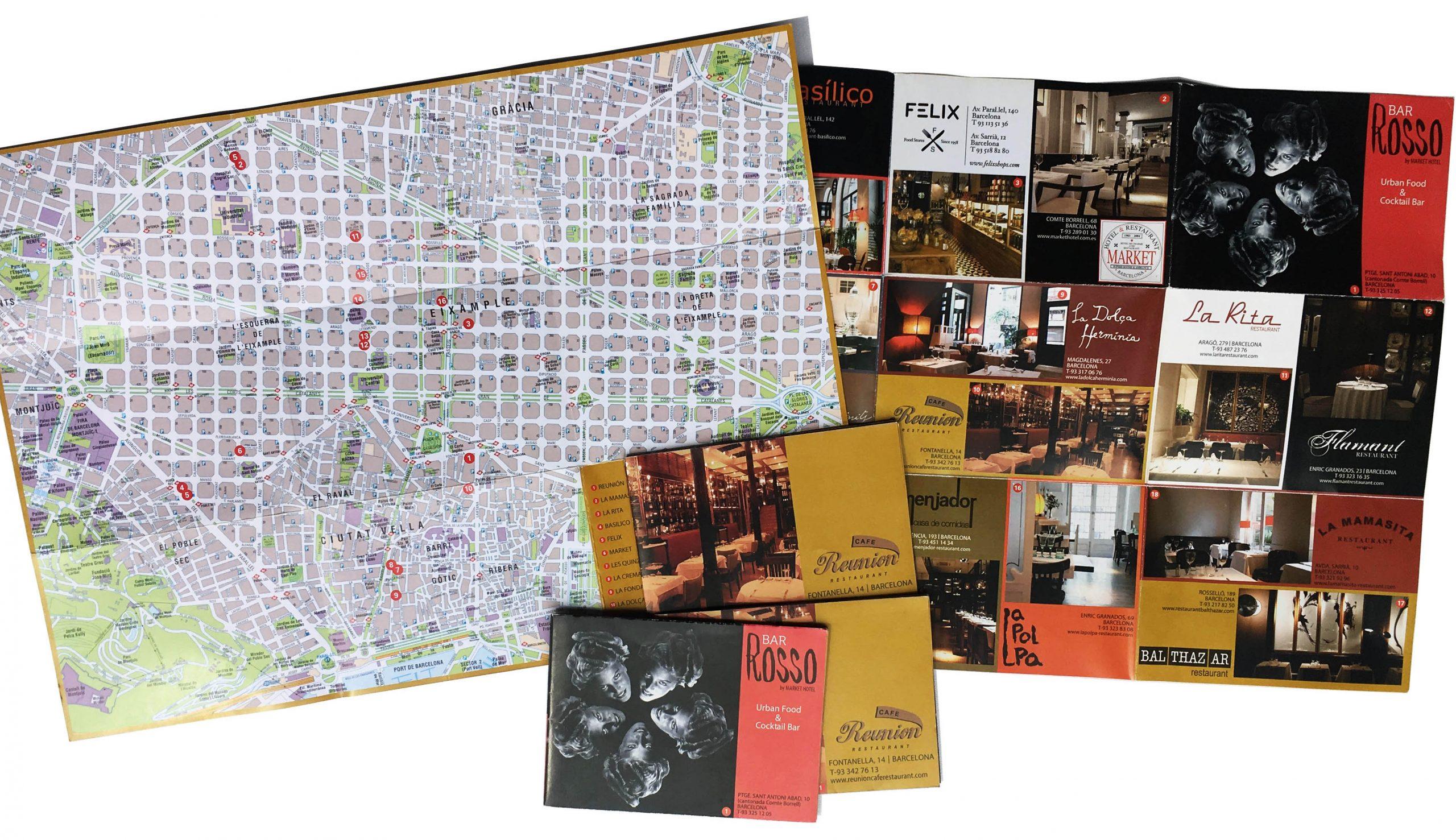 mapas plegados publicitarios