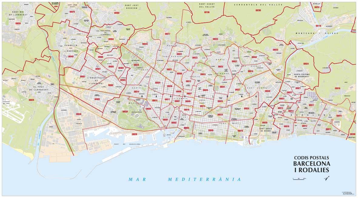 mapes de codis postals
