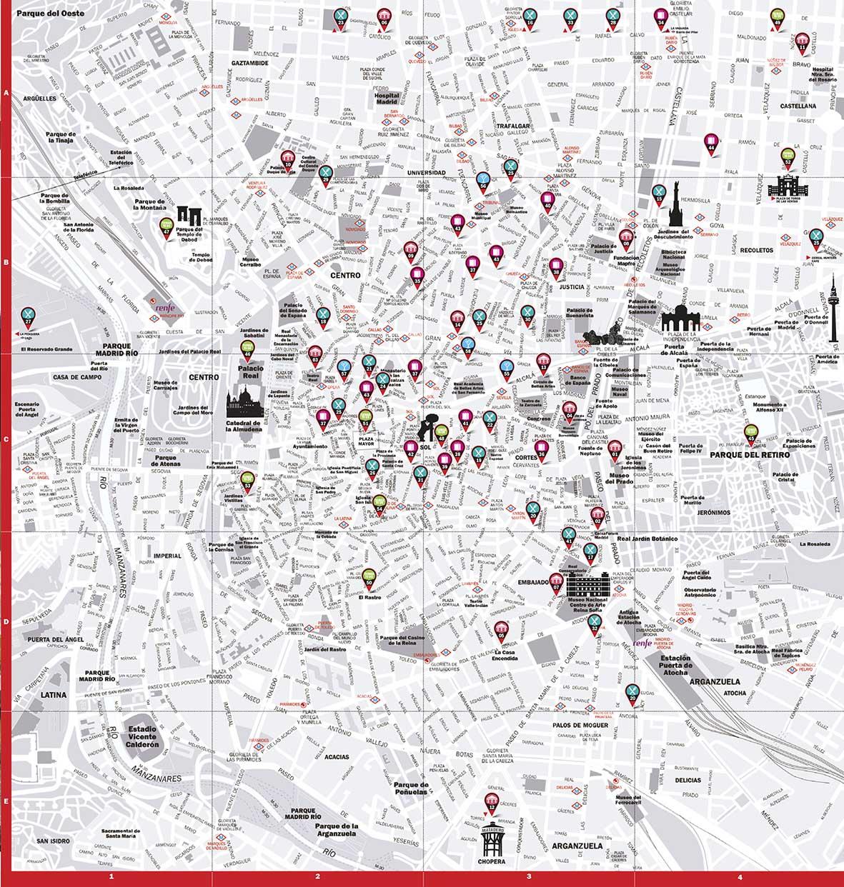 Mapa vectorial Madrid ciudad