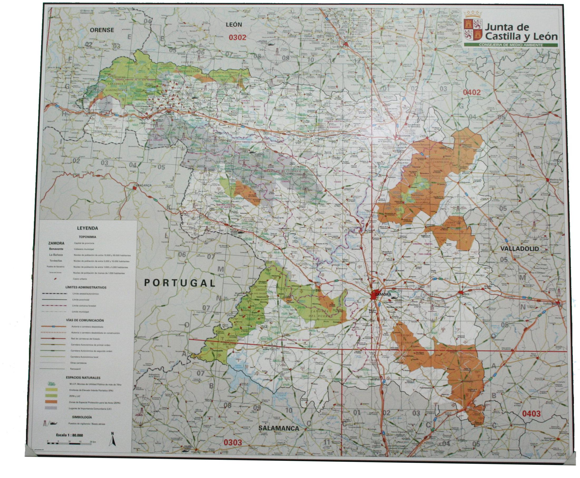 Mapas enmarcados de pared
